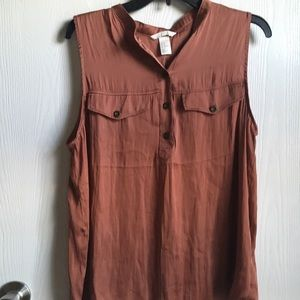H&M silky copper blouse